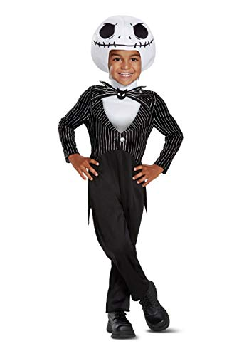 Disguise Jack Skellington Classic Toddler Child Costume, Black, Medium/(3T-4T) ()