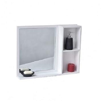 Tendance Miroir de Salle de Bain avec Tablette et 2 niches ...