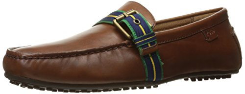 Polo Ralph Lauren Men's Wessel Driving Style Loafer, Deep Saddle Tan, 8 D US (Lauren Loafers)
