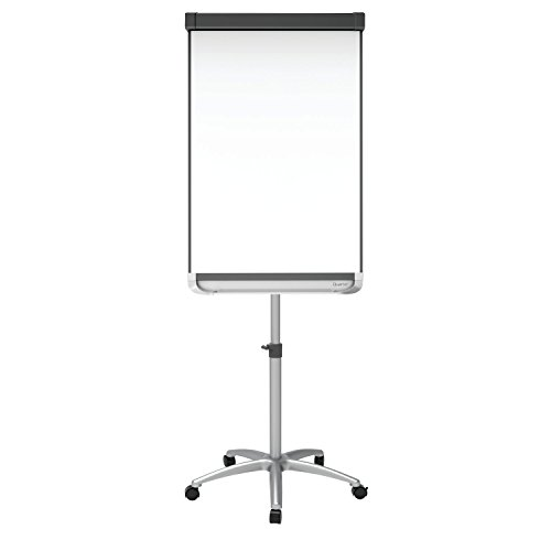 Quartet Easel, Magnetic Whiteboard / Flipchart, 2' x 3', Prestige 2 Mobile Presentation, Graphite Finish Frame (ECM32P2) by Quartet