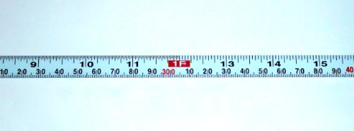 "Metal Adhesive Backed Ruler – 1/2 Inch Wide X 3 Meters (10 Feet) Long – Left to Right – Fractional/Metric – 1/16"" and 1mm Grads (4' Metric Ruler)"