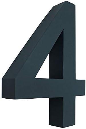 0 1 2 3 4 5 6 7 8 9 a b c d Num/éro de maison 3D anthracite Anthracite R/ésistant aux intemp/éries 20 cm de hauteur Gris RAL 7016