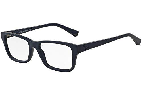 Emporio Armani EA3057 Eyeglass Frames 5368-54 - Matte Blue