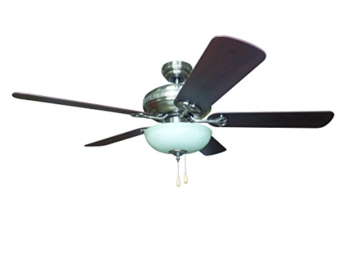 "Litex E-BFT52BNK5C Sandoval 52"" Brushed Nickel Ceiling Fan w"