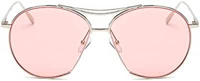 SojoS Round Aviator Mirrored Flat Light Color Drive Lenses Unisex Sunglasses SJ1020
