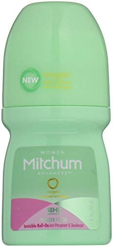 Mitchum Women Invisible Roll-On, Powder Fresh 1.7 oz (Pack of ()