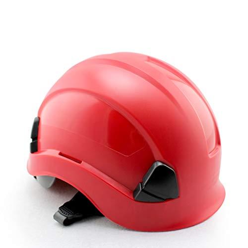 Zhijie-helmet Casco rígido con Casco de Trabajo de Altura y Rescate de ABS con trinquete Ajustable, suspensión de 6 Puntos...