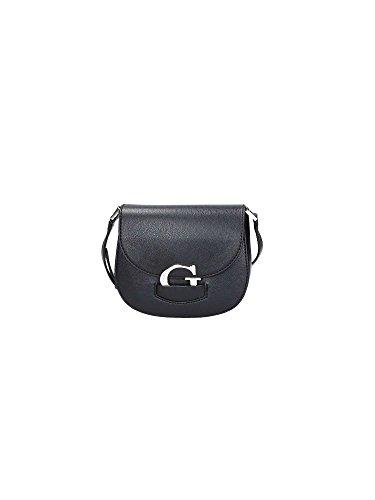 GUESS, Damen Handtaschen, Umhängetaschen, Crossover-Bags, Crossbody, Schwarz, 18 x 16 x 6 cm (B x H x T)