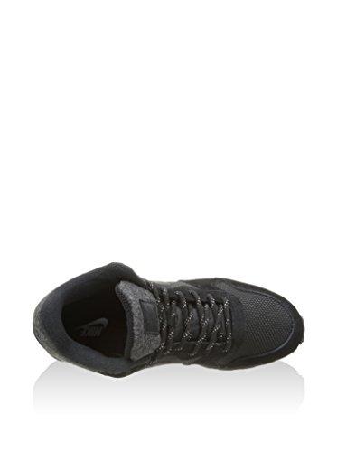 Nike MD Runner 2 Mid, Scarpe da Corsa Uomo Negro / Blanco (Black/Black-white)