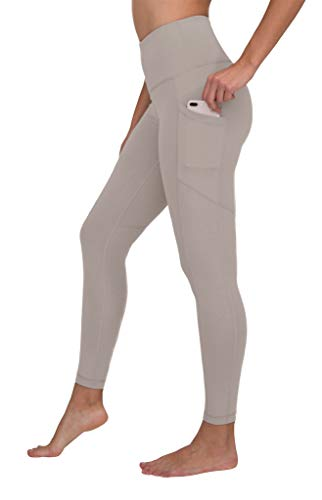 90 Degree By Reflex High Waist Interlink Yoga Pants - Silver Berry - Medium