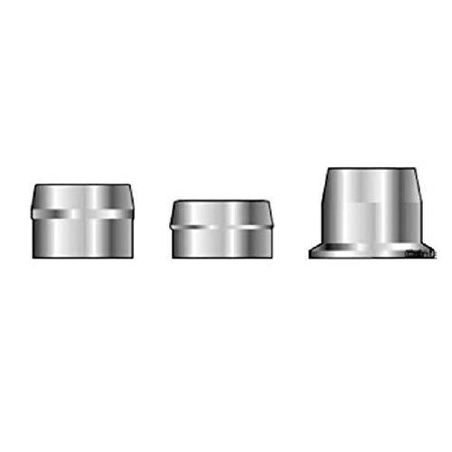 3LC-2CU6Q, Huck, Huck C6L Lockbolt Collar, [3/16] .188 Diameter, Flanged Collar, SST/Plain Finish Wax Lube Rohs. - Flanged Wax