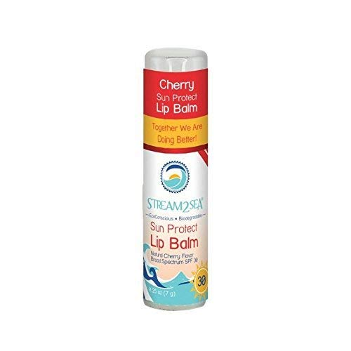 Stream2Sea Sun Protection SPF 30 Cherry Lip Balm .25oz ()