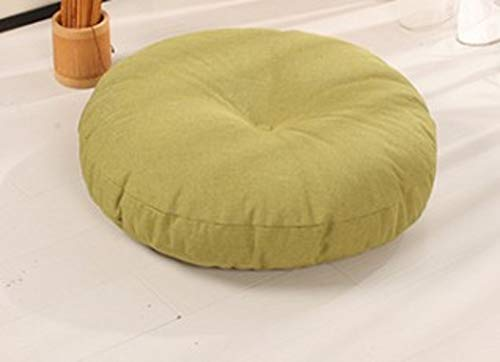 JJMM Tatami Cushion,Linen Cushion,Breathable Cushion,Removable Thick Round for Sitting Balcony Bay Window Outdoor-b Diameter:45cm(18inch)