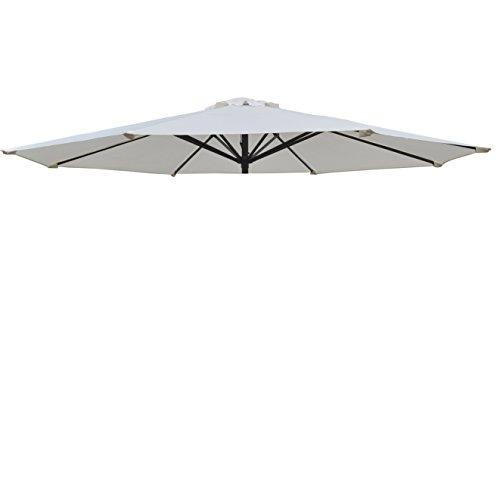 Umbrella Cover Canopy 10ft 8 Rib Patio Replacement Top Outdoor-Ecru