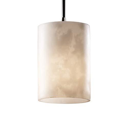 Justice Design Group LumenAria Mini Pendant Light, Brushed Nickel/Alabaster ()