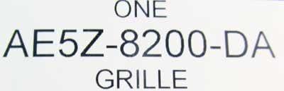 Genuine Ford AE5Z-8200-DA Radiator Grille