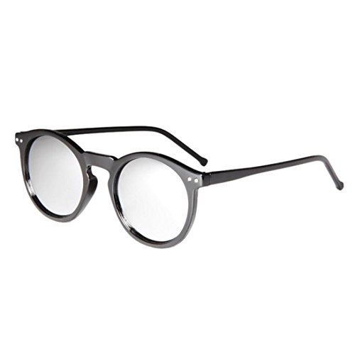 Womail Women Fashion Retro Circular Color Glasses Sunglasses For Men (D)