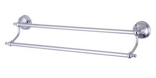Kingston Brass Ba7613C 24 Inch Dual Towel Bar Polished Chrome Finish B0026ZPCI2 光沢クロム 光沢クロム