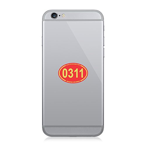 United States Marine Corps MOS 0311 Infantry Rifleman Red Oval - Cell Phone Sticker