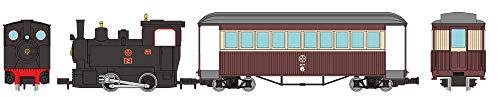 [해외] 철도 콜렉션 철코레  (narrow)내로 게이지80 묘집 선증기기관차 + 객차구 도장 토탈 세트 디오라마 용품 (메이커 첫회 수주 한정 생산)