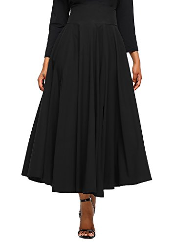 Diukia Women High Waist Casual A-Line Pleated