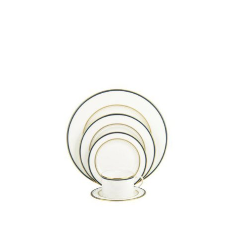 kate spade new york Library Lane 5-piece Dinnerware Place Setting, Navy