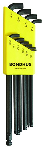 Bondhus 16538 Set of 10 Balldriver« Stubby L-wrenches, sizes ()