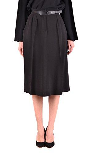 ELISABETTA FRANCHI Women's Mcbi113298o Black Viscose Skirt by ELISABETTA FRANCHI