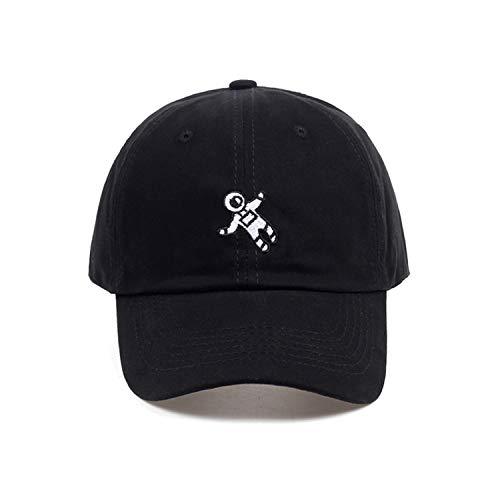 同行するビジター廃止刺繍野球帽 4色利用可能 ユニセックス 調整可能な 綿 カジュアルキャップ,ブラック