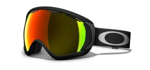Oakley Canopy Goggle Matte Black W/Fire Iridium, One Size, Outdoor Stuffs