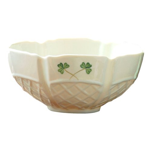 Irish China (Belleek 6-Inch Shamrock Trellis Bowl)