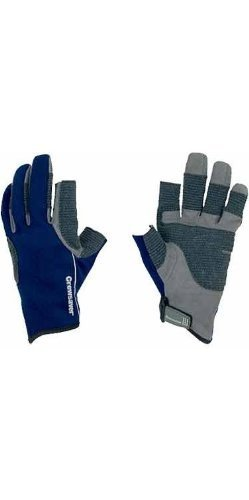 Crewsaver Boating and Sailing - Winter 3 Finger Kids Youth Junior Sailing Yachting and Dinghy Gloves Blue - Unisex