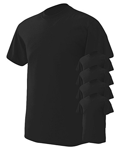 (Gildan Men's Wicks Moisture T-Shirt, Black, Medium. (Pack of 5))