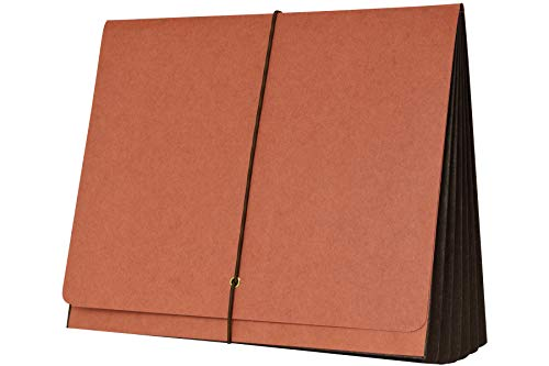 AMZfiling SJ Paper Match Expanding File Wallet- Red, Tyvek Gussets, Legal Size, 5-1/4 Inch Expansion (25/Box) (Expandable Wallet Tyvek)