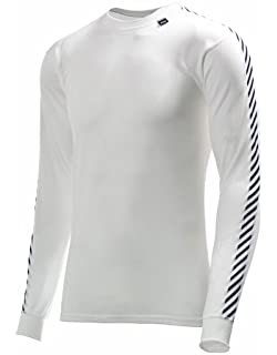 Helly Hansen - Camiseta deportiva para hombre (manga larga), diseño a rayas