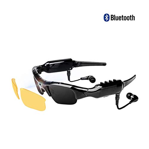 Multifunctional Digital Glasses MP3 Player DVR Camera Video Micro SD Card Driving Glasses Sunglasses with Yellow Lens Camera Sunglasses Mp3 Player