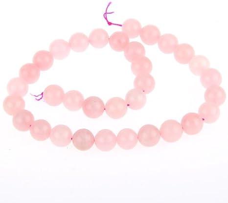 skyllc® Cuarzo Rosa de Piedras Preciosas Perlas Sueltas Redonda Natural del Cristal de Piedra de la energía Poder curativo de 12mm joyería Que Hace
