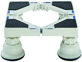 Base Lavadora Movil Ajustable Soporte para Nevera Secadora 42-67cm Ajustable Pedestal y Marco para Vinotecas Refrierador Soporte con 4 Pies Fuertes Carga 300 Kg Antivibración
