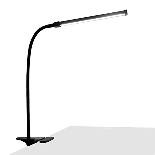 RongSa Adjustable LED Reading Table Light Eye-Protection Bedside Book Lamp with Clip USB Rechargeable Light - Black by RongSa