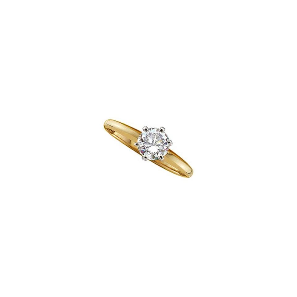 14Kt Yellow Gold Solitaire Diamond Ring