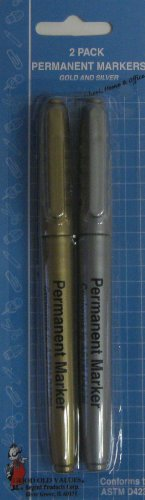 Silver and Gold Permanent Markers