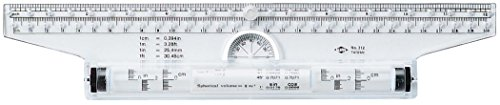 Alvin, Rolling Parallel Ruler, Multipurpose Ruler Balancing Scale - 12 Inches