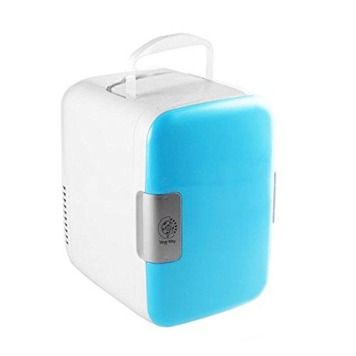 (VaygWay Mini Fridge Portable Cooler-Electric Cooler/Warmer AC/DC Thermoelectric System- Universal Refrigerator Car Travel Home-Work Desk Baby Bottle Medicine)