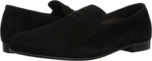 Massimo Matteo Men's Suede Penny Loafer Black Suede 12 D US (Loafers Suede Black Mens)