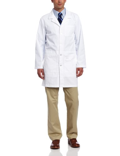 Landau Men's Notebook Scrub Lab Coat, White WWXY, 48 by Landau