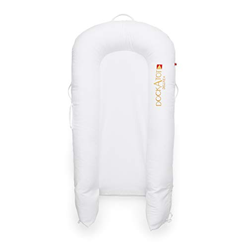 DockATot Deluxe+ Dock (Pristine White) - The All in One Baby Lounger - Perfect for Co Sleeping - Suitable from 0-8 Months (Pristine White) by DockATot (Image #1)
