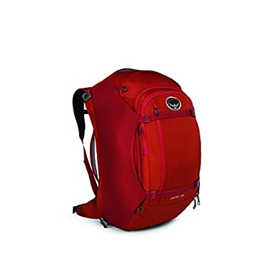Osprey Porter Travel Duffel Bag, Hoodoo Red, 65-Liter