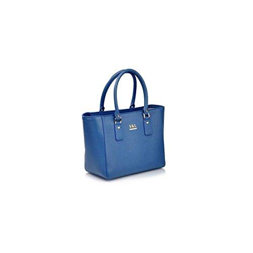 Victorio & Lucchino Bolso de Mujer Shopping 10527 Piel Azulón