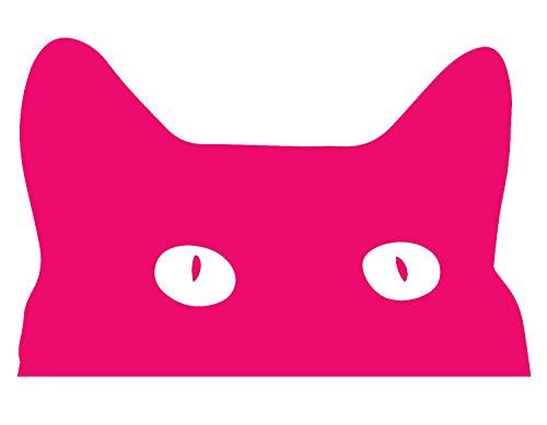 ANGDEST Halloween Hidding CAT (Pink) (Set of 2) Premium Waterproof Vinyl Decal Stickers for Laptop Phone Accessory Helmet Car Window Bumper Mug Tuber Cup Door Wall Decoration]()