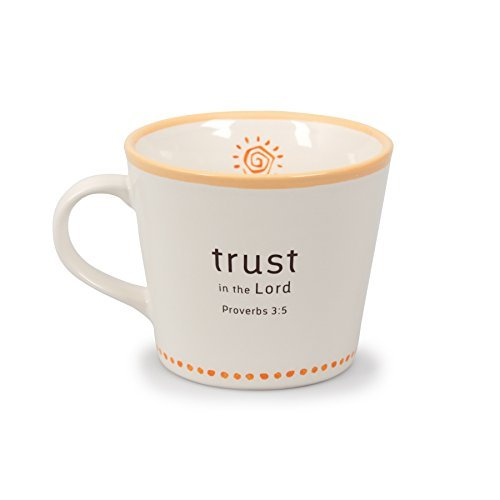 Lighthouse Christian Statement Series Mug with Catch-All (12 ounces, Trust In The Lord) by Lighthouse Christian Products